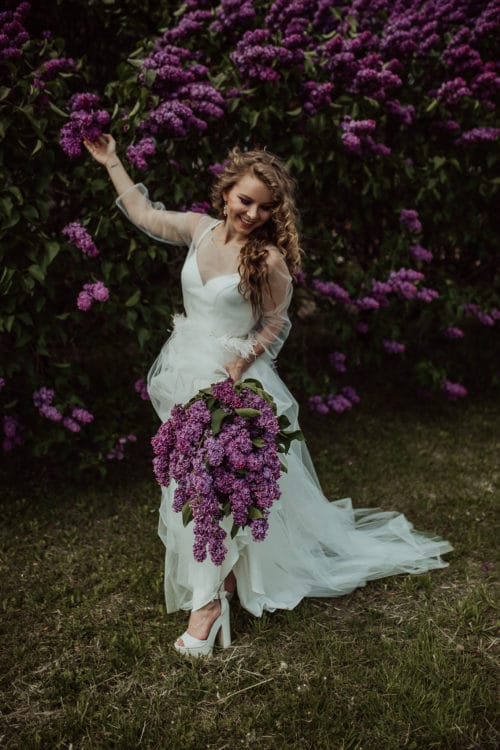 Amelii wedding dress - Lilac Dream