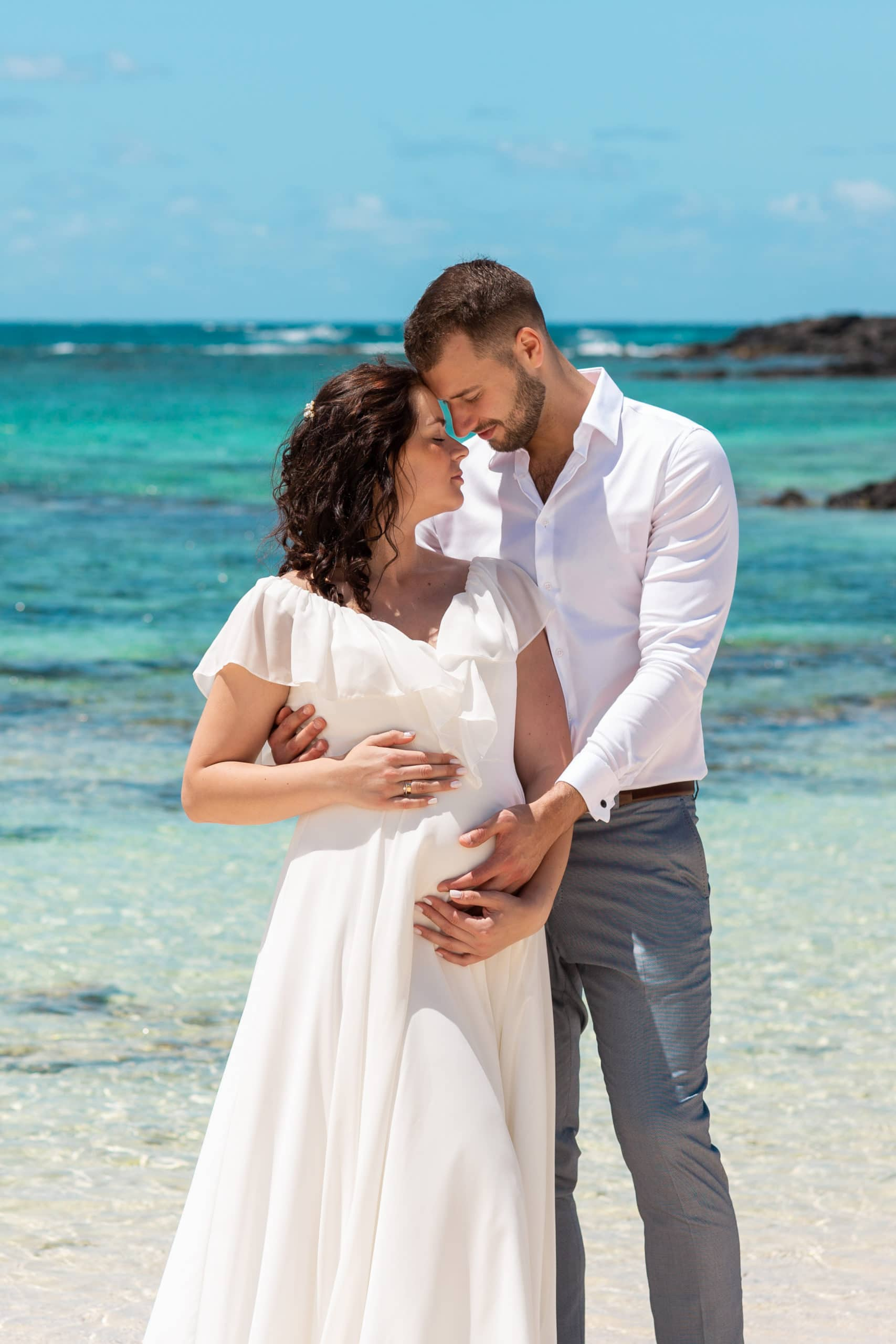 Wedding dresses for prospective mothers
