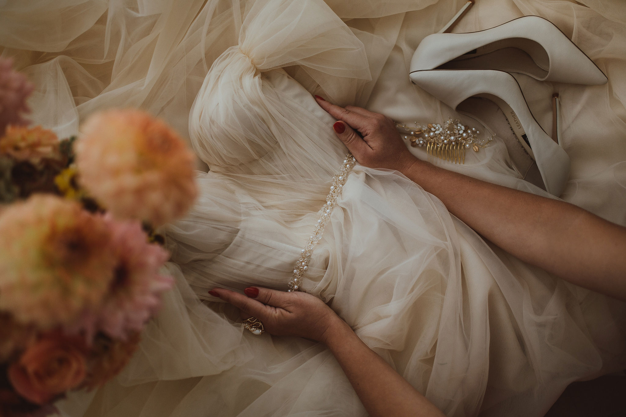 Get inspired this season: feathery tulle, 3D floral lace and more