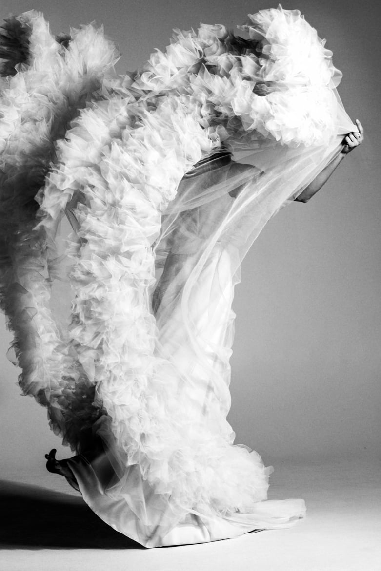 Supermodel Ieva Lagūna in Amelii gown: Magazine SANTA, issue No.1